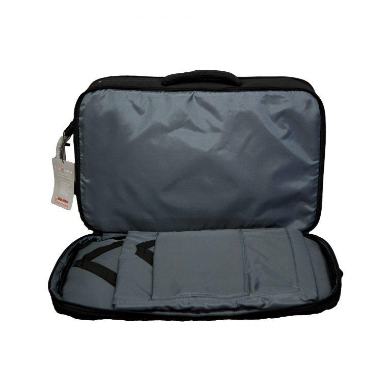 wht - master barber backpack grey interior 3